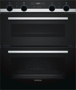 iQ500, built-in double oven, Stainless steel NB535ABS0B