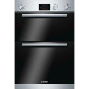 BOSCH Brushed steel Built-in double multifunction oven HBM13B151B