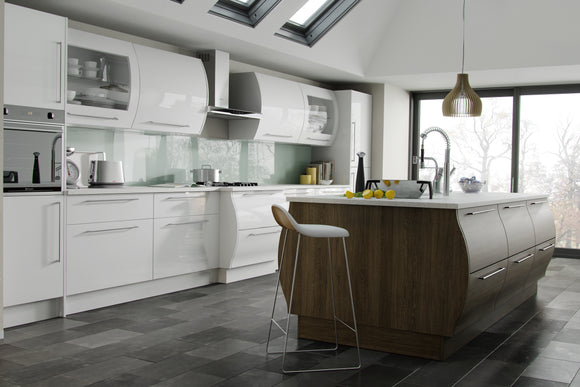 5G GLOSS Made To Measure Kitchen Door Styles - Band C & D (Neutral Colours)