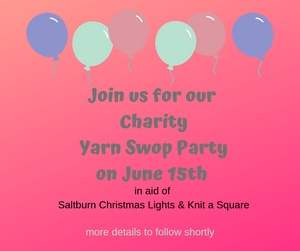 Charity Yarn Swop Party in aid of Knit A Square and Saltburn Christmas Lights