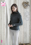 Dark charcoal grey sweater. buttoned cuffs and shoulders with a high neck.