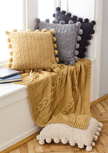 King Cole Forest Aran Pattern 5661 - Throw and Cushion Covers