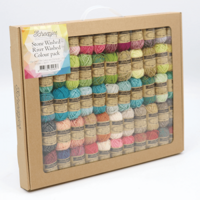 A luxury window box filled with 58 beautiful yarn shades. Including whites, browns, blues, greens, pinks, yellows and many more colours.