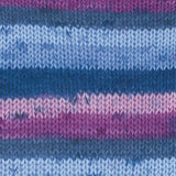 Gründl Hot Socks Colour Shade 406 - A self striping yarn containing purple shades and blue shades