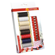 GUTERMANN SEW-ALL THREAD SET – WITH 10 FREE FABRIC CLIPS