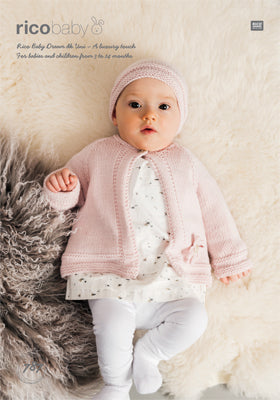 RICO BABY DREAM DK UNI CARDIGAN AND HAT PATTERN 787