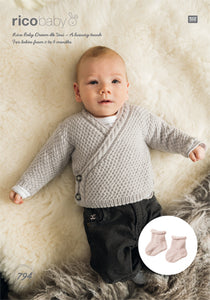 RICO BABY DREAM DK UNI CARDIGANS AND SOCKS PATTERN 794