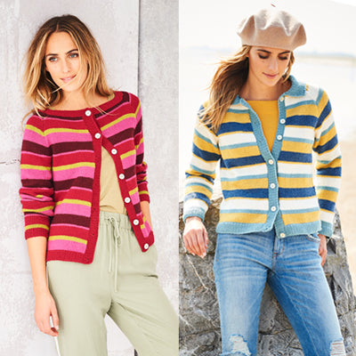 Stylecraft Bellissima DK - Ladies Striped Cardigan 9581
