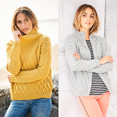 Stylecraft Bellissima DK - Ladies Sweater and Jacket 9582