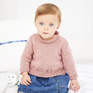 Stylecraft Bambino DK Pattern 9606 - A-Line Jumper and Cardigan