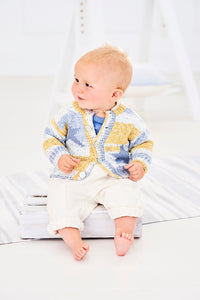 Stylecraft Bambino Prints and Bambino DK - Pattern  9745 Jumper and Cardigan