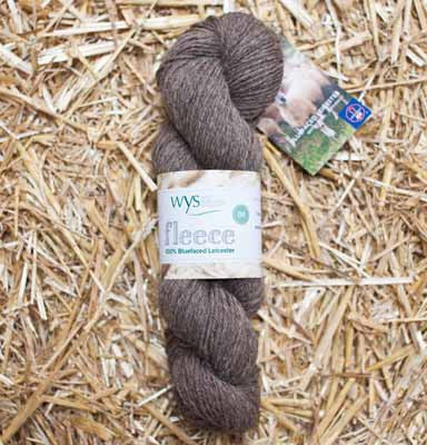 West Yorkshire Spinners Un-dyed 100% DK Bluefaced Leicester Wool Yarn in Brown