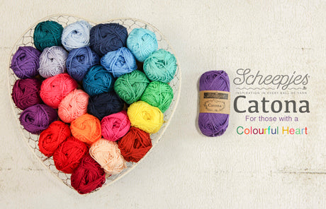 Scheepje's Catona Cotton 4ply. Beautiful 4ply mercerised cotton.ly mercerised