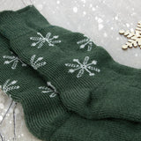 West Yorkshire Spinners - Luxury Blue Faced Leicester Snowflake Socks