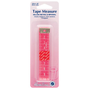 Hemline Double-sided Pink Tape Measure 150cm