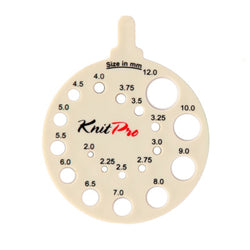 KnitPro Round View Sizer Needle Gauge 2mm - 12mm