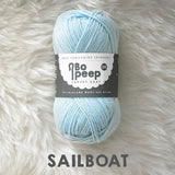 West Yorkshire Spinners Bo Peep yarn ball in Sailboat