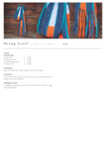 Dreng scarf.A blue, green teal, orange and white scarf with tassels.