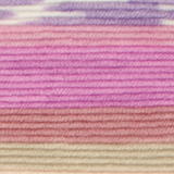 Variegated yarn containing pastel yellow, orange, pinks and purples
