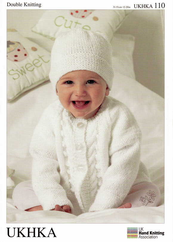 UKHKA Knitting Patterns for Babies - 110