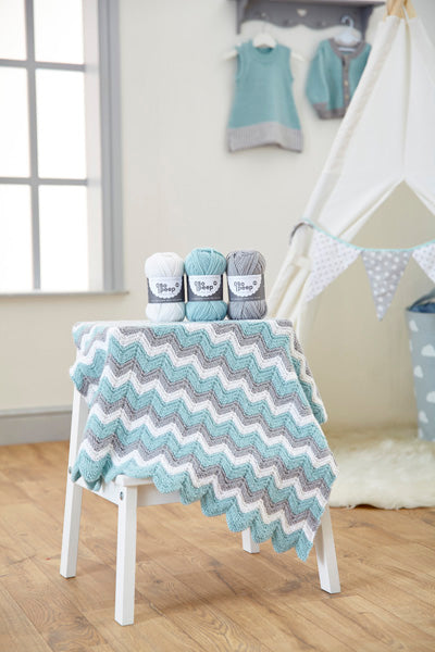 West Yorkshire Spinners Knitted Zig Zag Blanket Kit