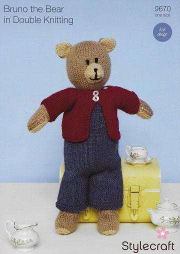Stylecraft Pattern 9670 - Bruno the Bear Knit design