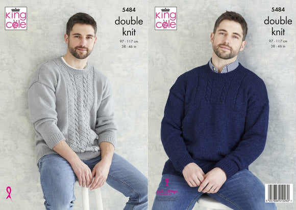 King Cole - Pattern 5484 in Subtle Drifter DK