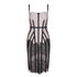 Party Dress Lace Splicing Design, Sleeveless Color Block Bandage Mini Slip Dress.