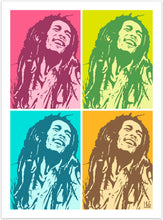 Bob Marley - pop art kunst fra Helt Sort Galleri