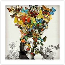 Butterfly Woman - giclée kunstprint fra Helt Sort Galleri