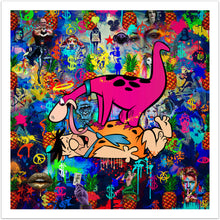 Holy Dino - original pop art kunst fra online galleriet Helt Sort Galleri