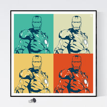 Iron Man - pop art kunst fra Helt Sort Galleri