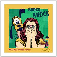 Knock Knock - pop art kunst fra Helt Sort Galleri