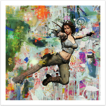 Making Peace - moderne pop art kunst med Tomb Raider fra online galleriet Helt Sort Galleri