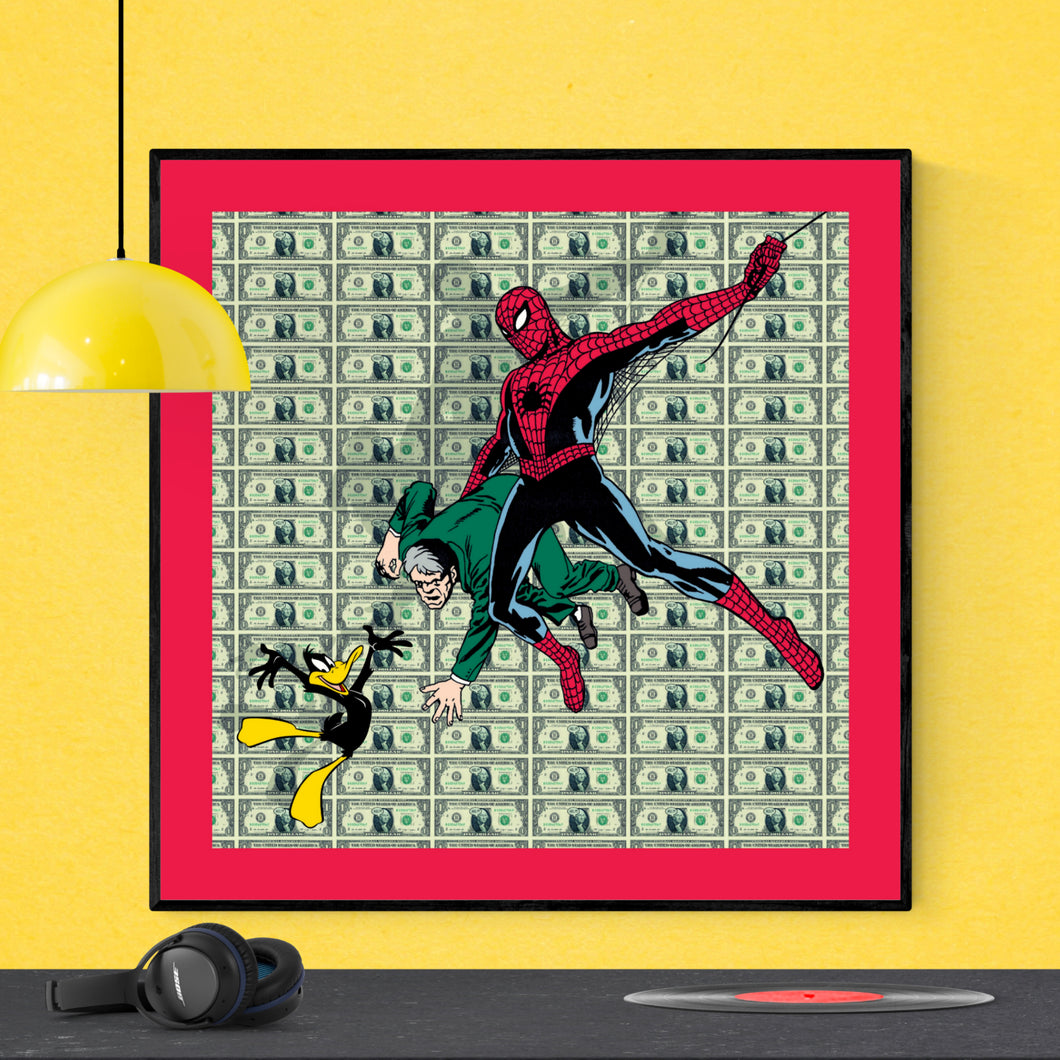 Saving the Day - pop art kunsttryk af Helt Sort
