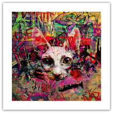 The Graffiti Cat - giclée kunstværk fra Helt Sort Galleri