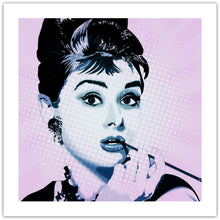 Audrey Hepburn - pop art kunst fra Helt Sort Galleri