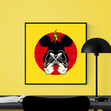 Darth Mouse - pop art kunsttryk af Helt Sort