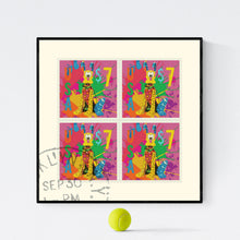 Happy Stamps - pop art kunsttryk af Helt Sort