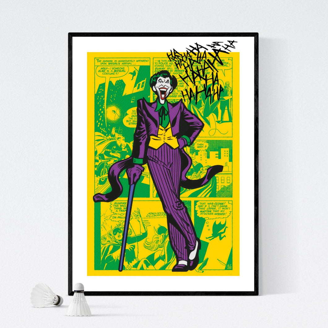 Laughing Joker - pop art kunst af Helt Sort