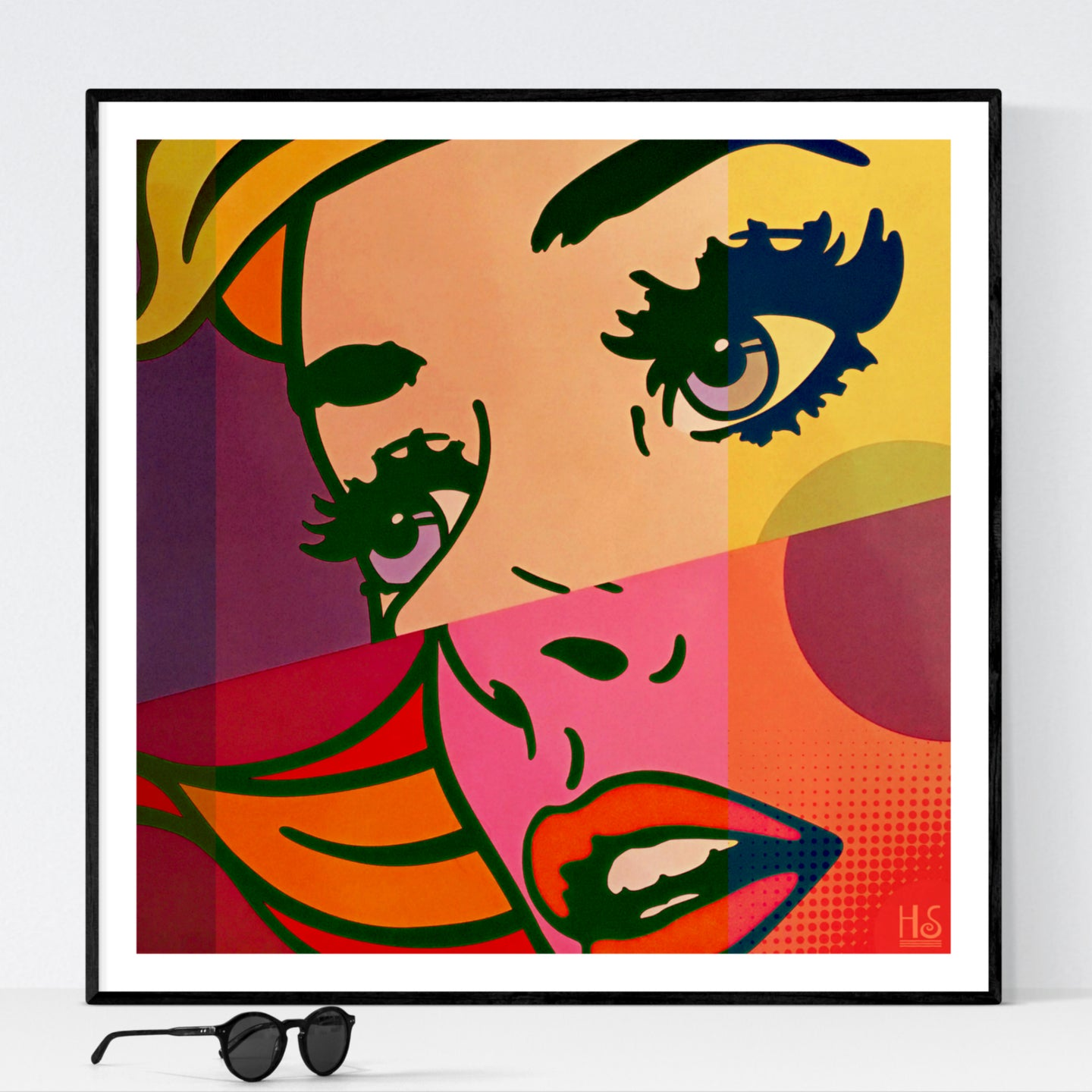 Pop Abstraction - pop art kunst fra Helt Sort Galleri