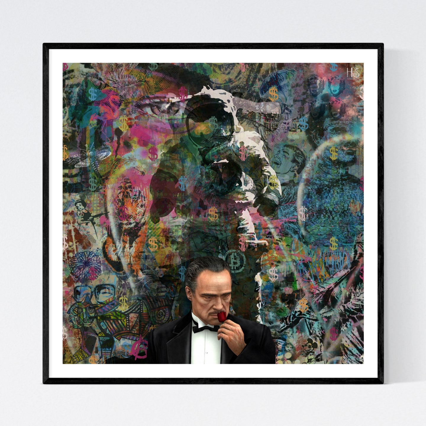 The Godfather - moderne pop art kunst af billedkunstneren Helt Sort
