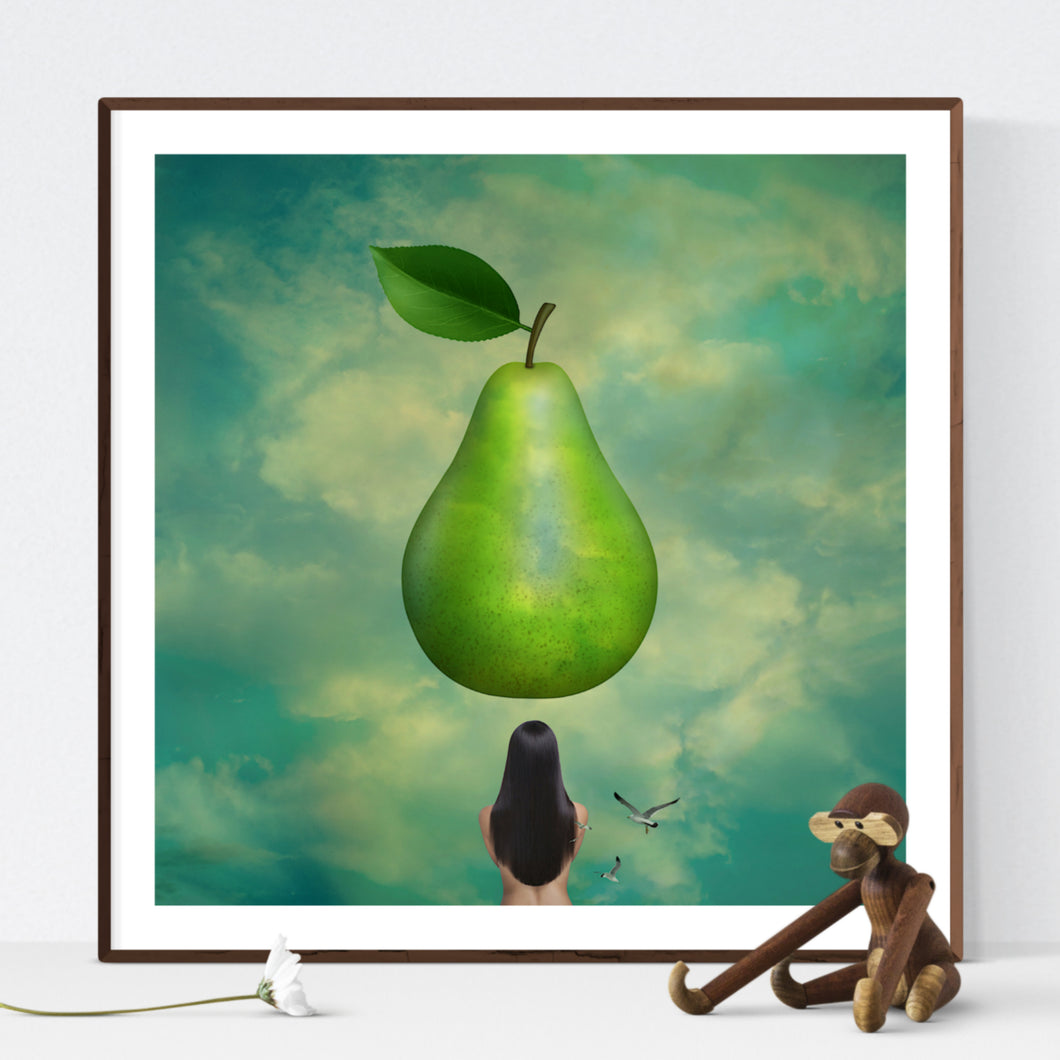The Pear - surreallistisk kunst af Helt Sort