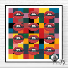 Twelve Mouths - pop art kunst af Helt Sort