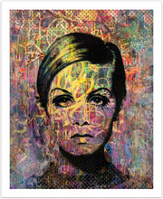 Twisted Twiggy - giclée kunstprint fra Helt Sort Galleri