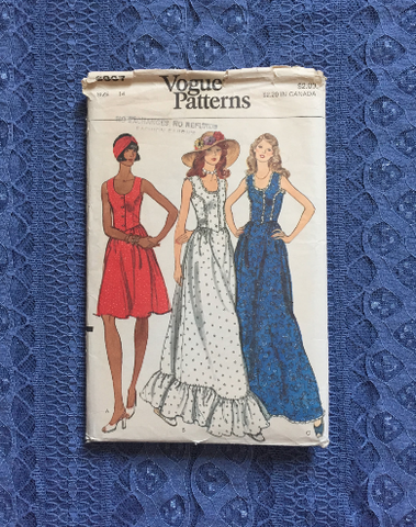 1970's Dress Sewing Pattern / Vogue Patterns 8837 / Vintage Lace Dress / Prairie Revival