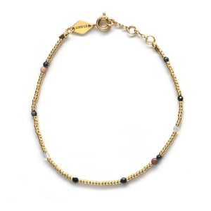 Anni Lu mix armband Willow Pale gold