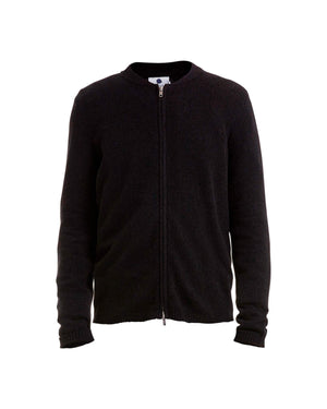 NN07 JAKE FULL ZIP 6259 CARDIGAN - BLACK