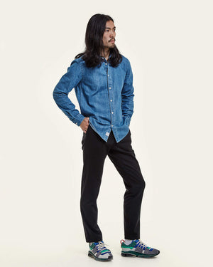 NN07 Morgan 5056 Indigo Cotton Shirt jeans skjorta