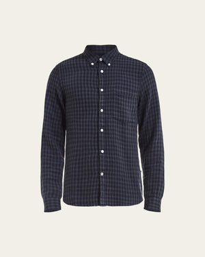 NN07 Falk 5068 Cotton Wool Shirt navy blue